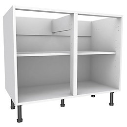 Cooke & Lewis White Standard Base cabinet (W)1000mm