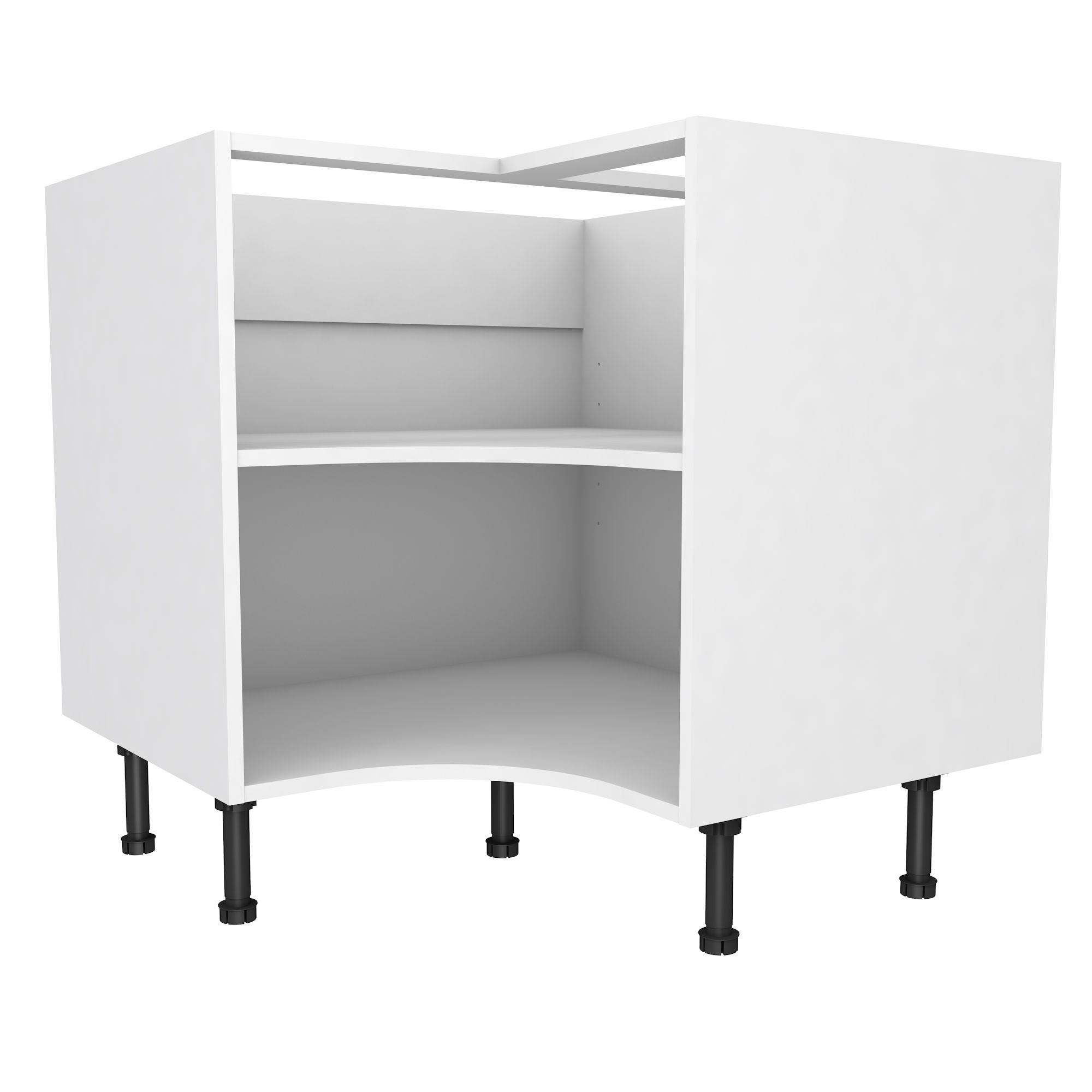 b q kitchen base cabinets cooke amp lewis white curved corner base cabinet w 925mm 10857