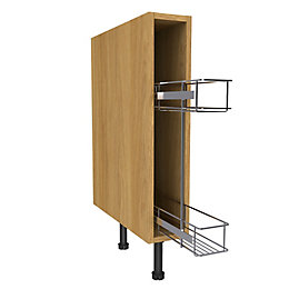 Cooke & Lewis Oak Effect Pull-Out Base Cabinet