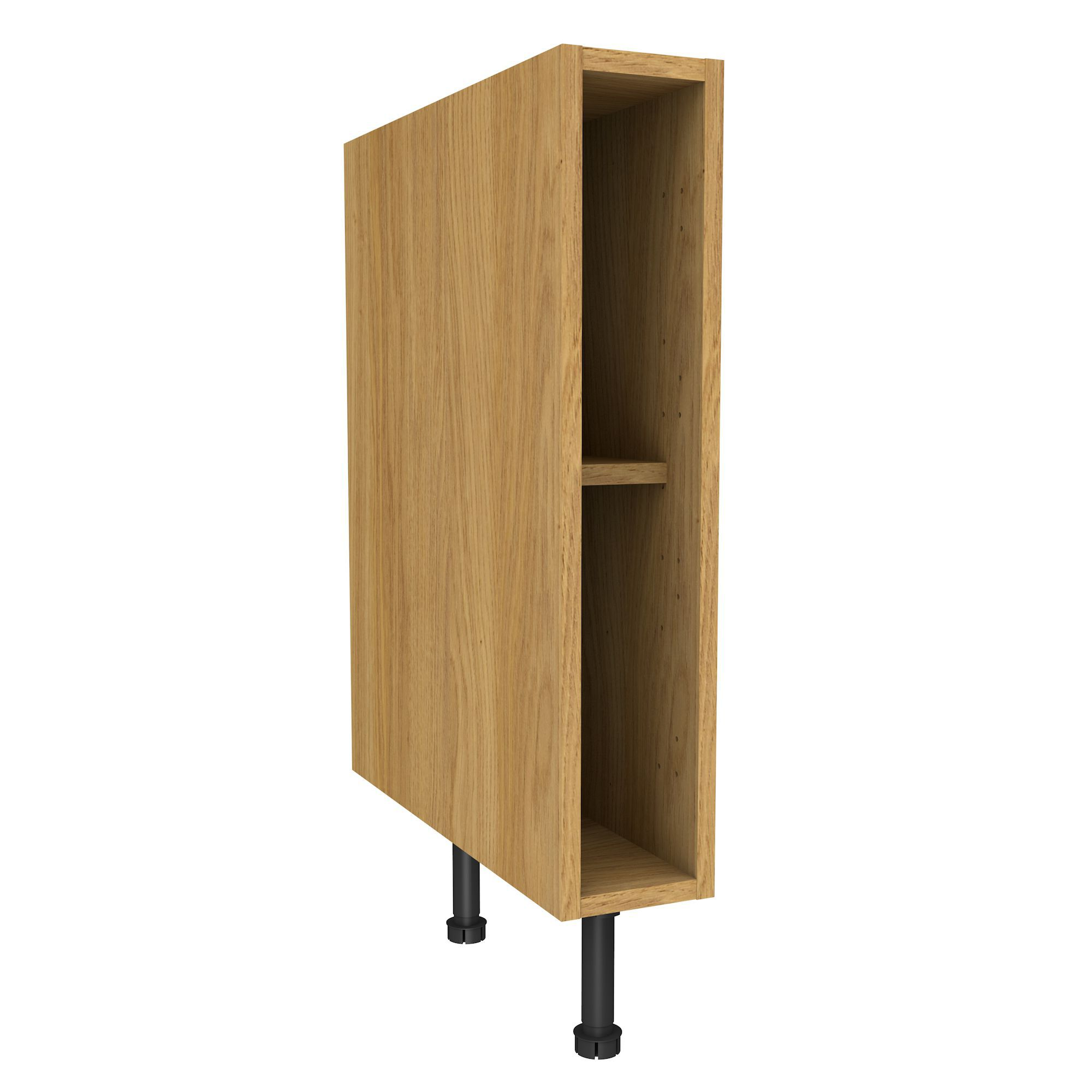 Oak Effect Kitchen Cabinets: Cooke & Lewis Oak Effect Standard Base Cabinet (W)150mm
