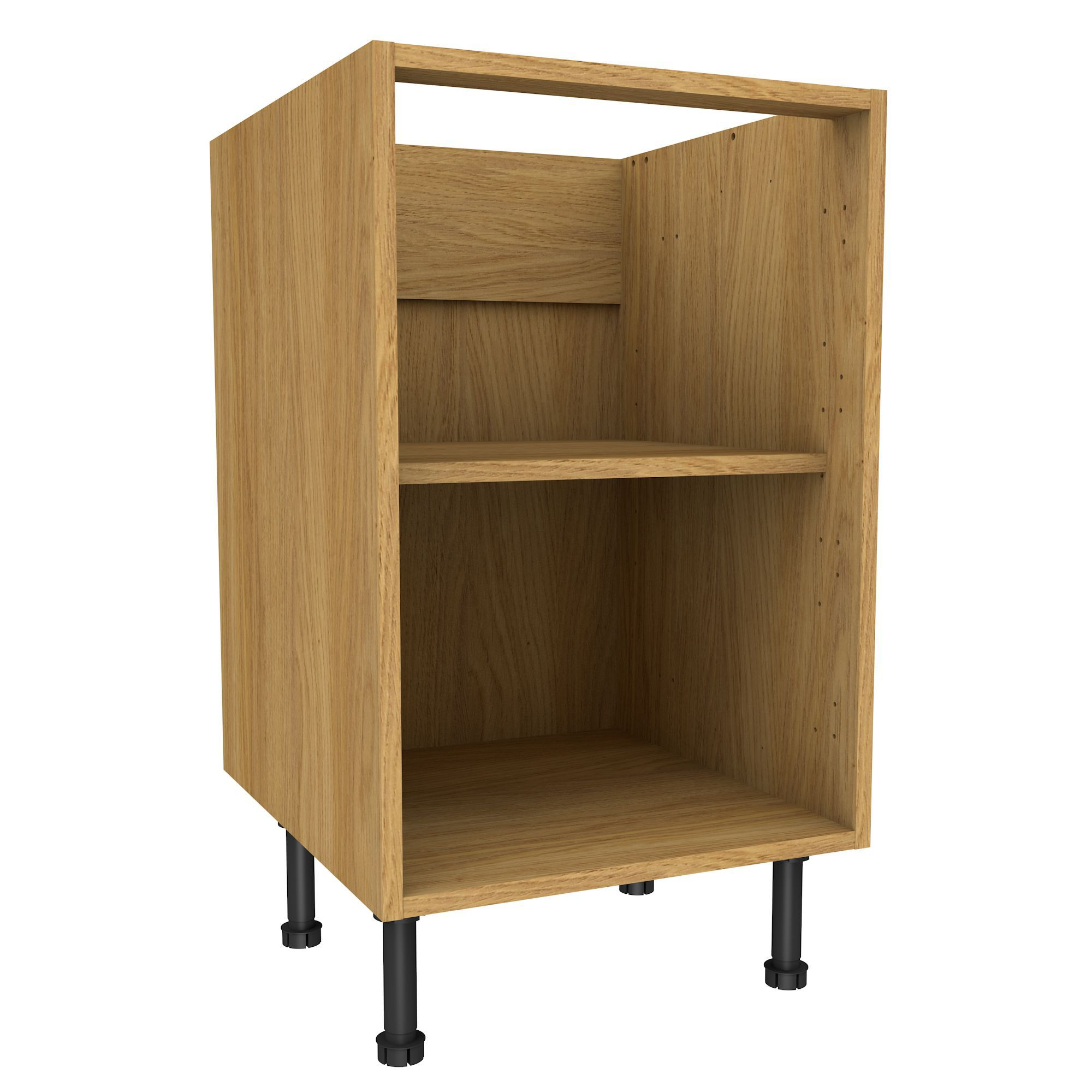 Oak Effect Kitchen Cabinets: Cooke & Lewis Oak Effect Standard Base Cabinet (W)500mm