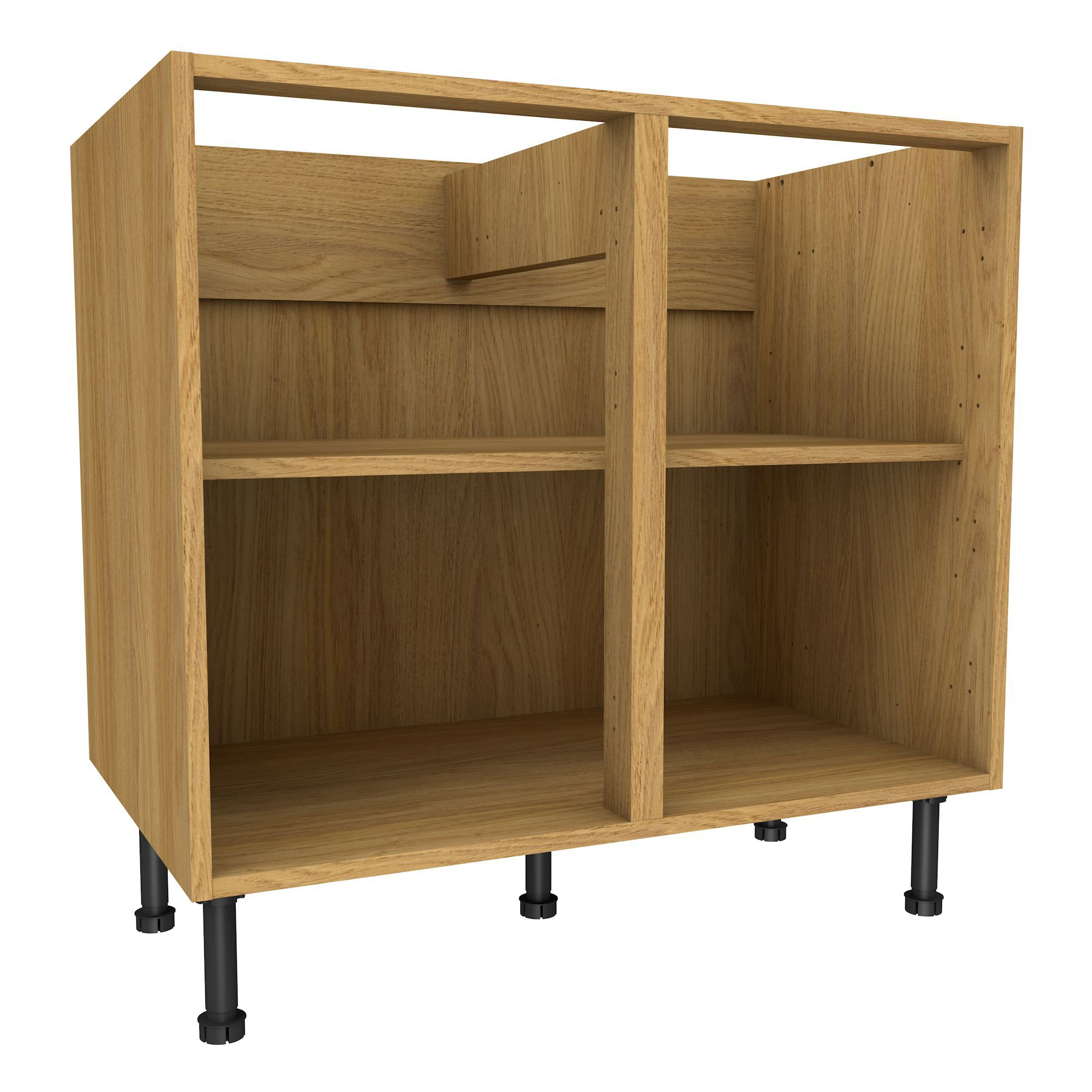 Oak Effect Kitchen Cabinets: Cooke & Lewis Oak Effect Standard Base Cabinet (W)900mm