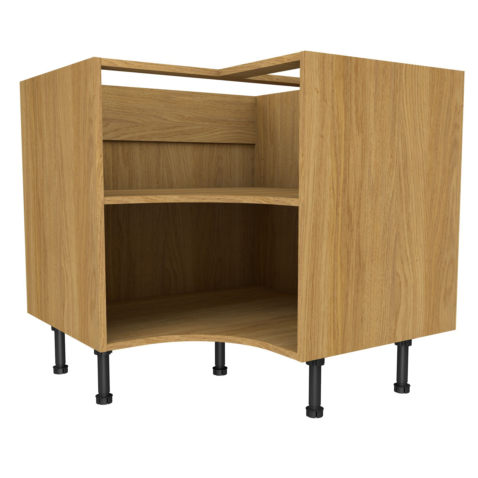 Oak Effect Kitchen Cabinets: Cooke & Lewis Oak Effect Curved Corner Base Cabinet (W