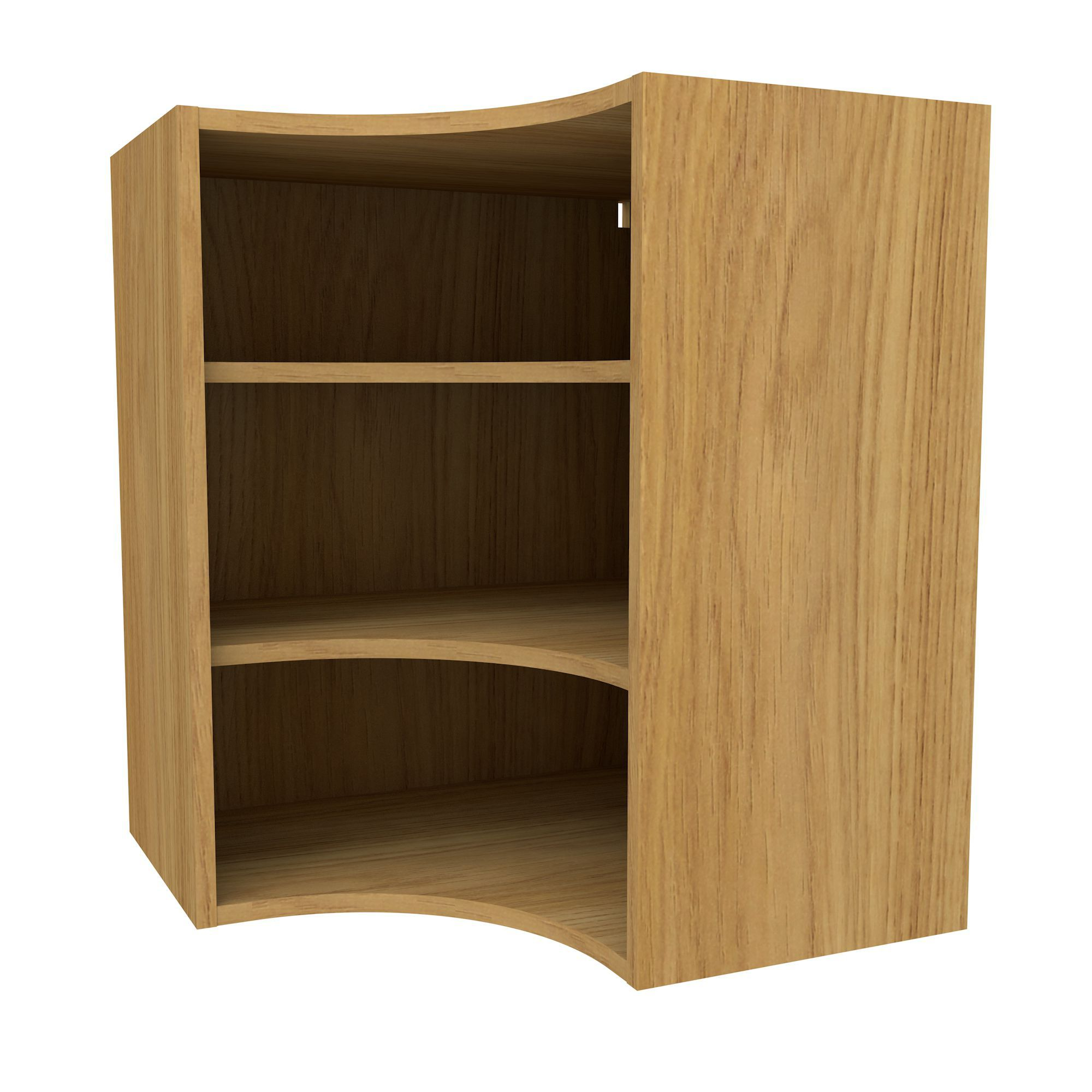 Oak Effect Kitchen Cabinets: Cooke & Lewis Oak Effect Deep Curved Corner Wall Cabinet