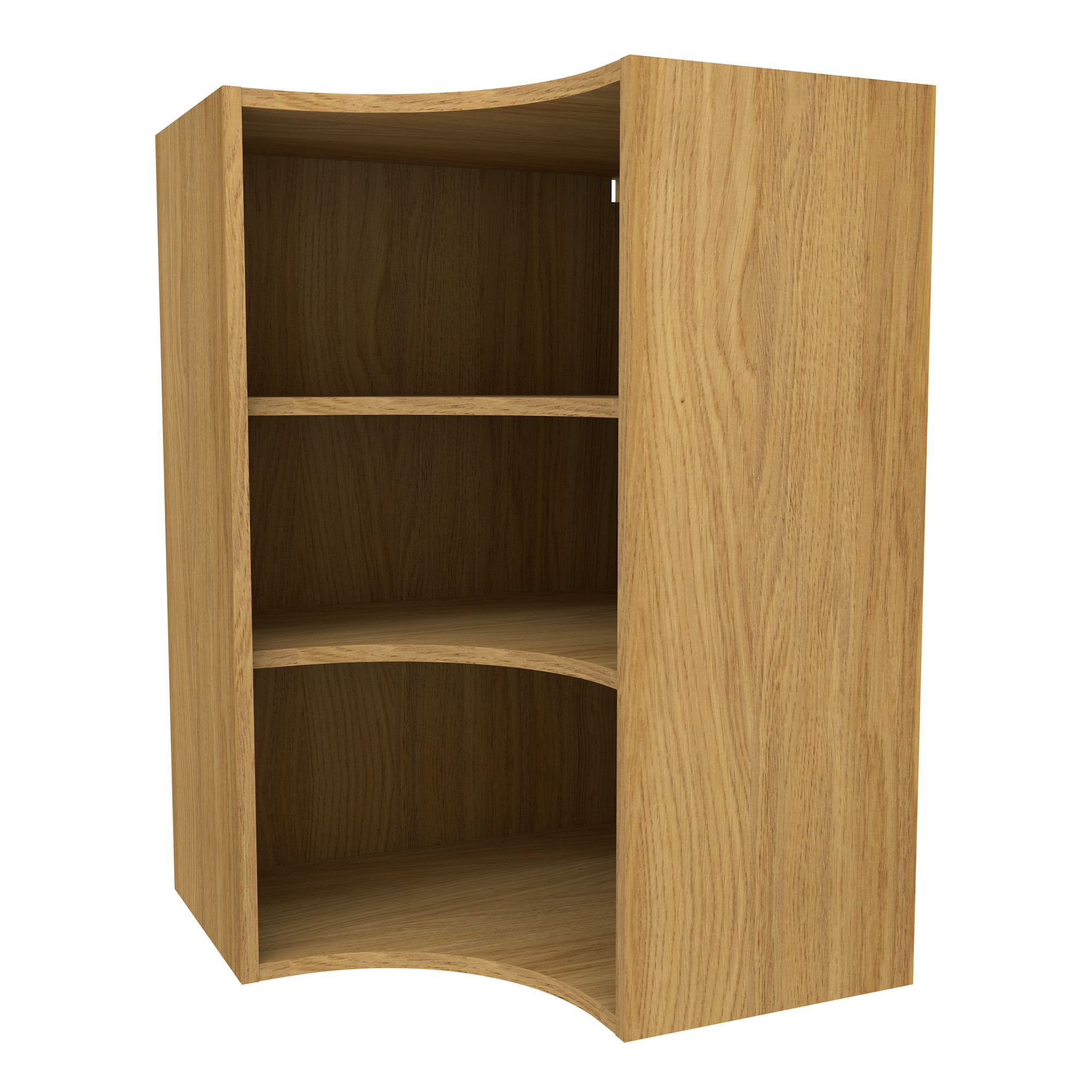 Cooke & Lewis Oak Effect Curved Corner Tall Wall Cabinet