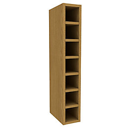 Cooke & Lewis Oak Effect Wine Rack Tall