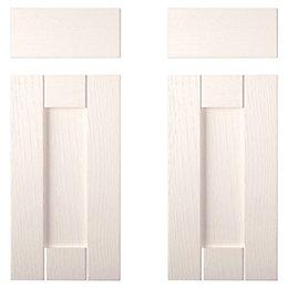 IT Kitchens Brookfield Textured Ivory Style Shaker Corner