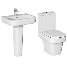 Cooke & Lewis Caldaro Close-Coupled Toilet & Full