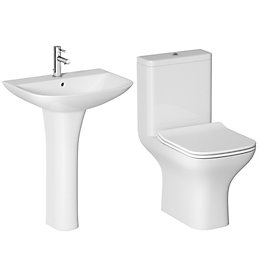 Cooke & Lewis Lanzo Close-Coupled Toilet & Full