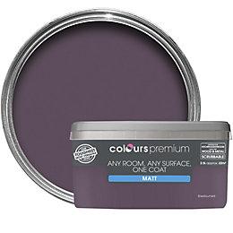 Colours Premium Blackcurrant Matt Emulsion Paint 2.5L