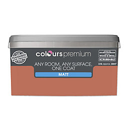 Colours Premium Crushed Peach Matt Emulsion Paint 2.5L