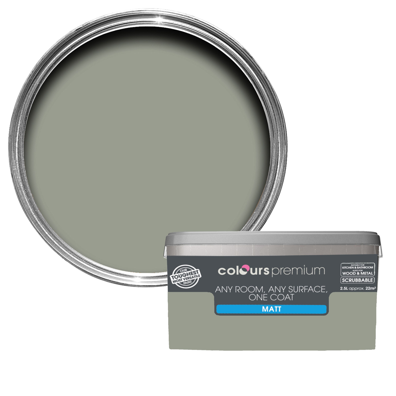 Colours Premium Fossilised Matt Emulsion Paint 25l Departments