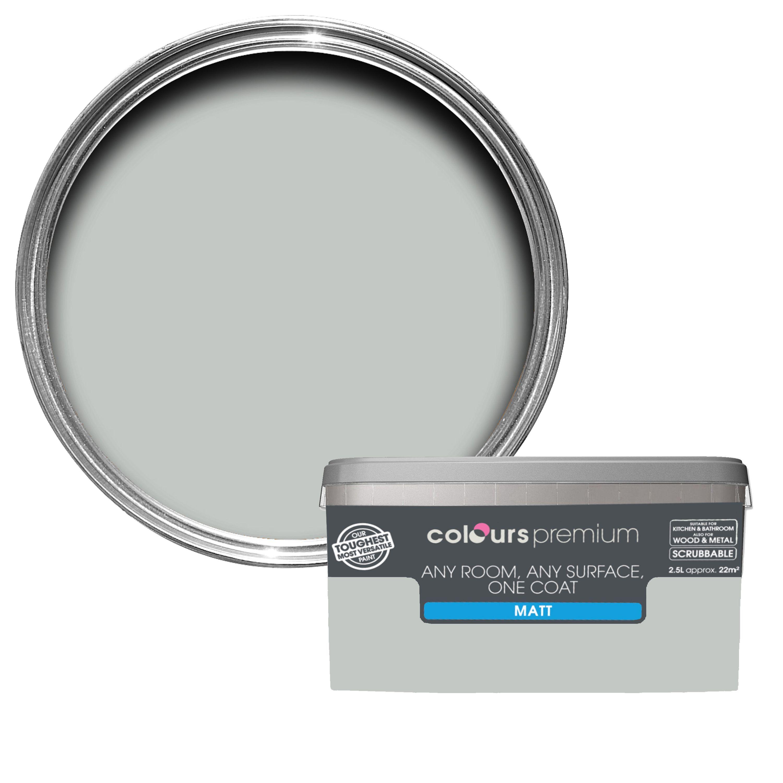 Tremendous Colours Premium Light Rain Matt Emulsion Paint 2 5L Departments Diy At Bq Interior Design Ideas Apansoteloinfo