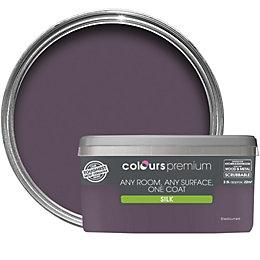 Colours Premium Blackcurrant Silk Emulsion paint 2.5L