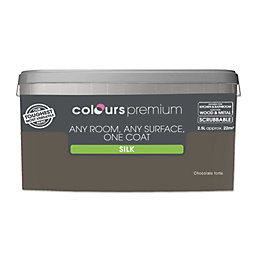 Colours Premium Chocolate Torte Silk Emulsion Paint 2.5L