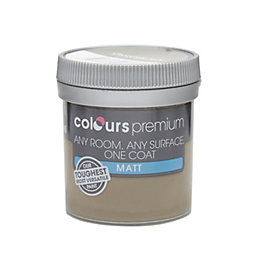 Colours Premium Chocolate Torte Matt Emulsion Paint 0.05L