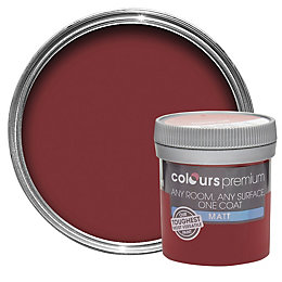 Colours Premium Classic Red Matt Emulsion Paint 0.05L