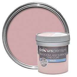 Colours Premium Powder pink Matt Emulsion paint 0.05L
