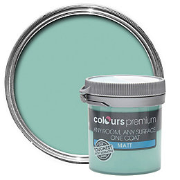 Colours Premium Sea Green Matt Emulsion Paint 0.05L