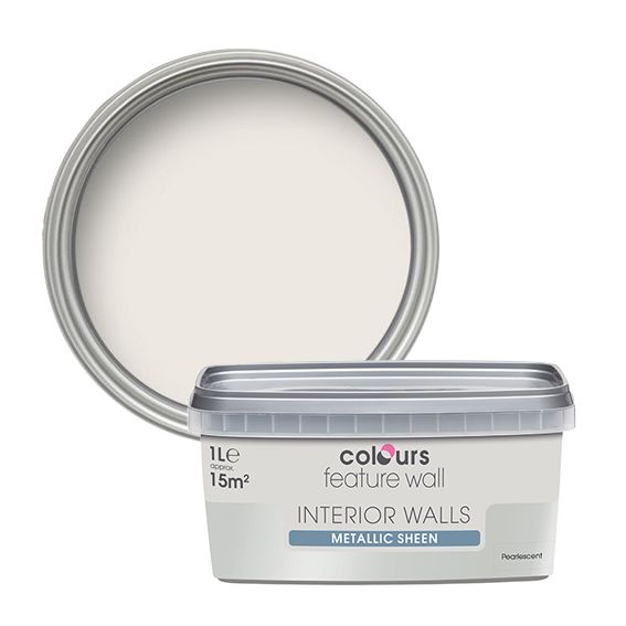 Colours Feature Wall Pearlescent Emulsion Paint 1L | Departments | DIY At  Bu0026Q.
