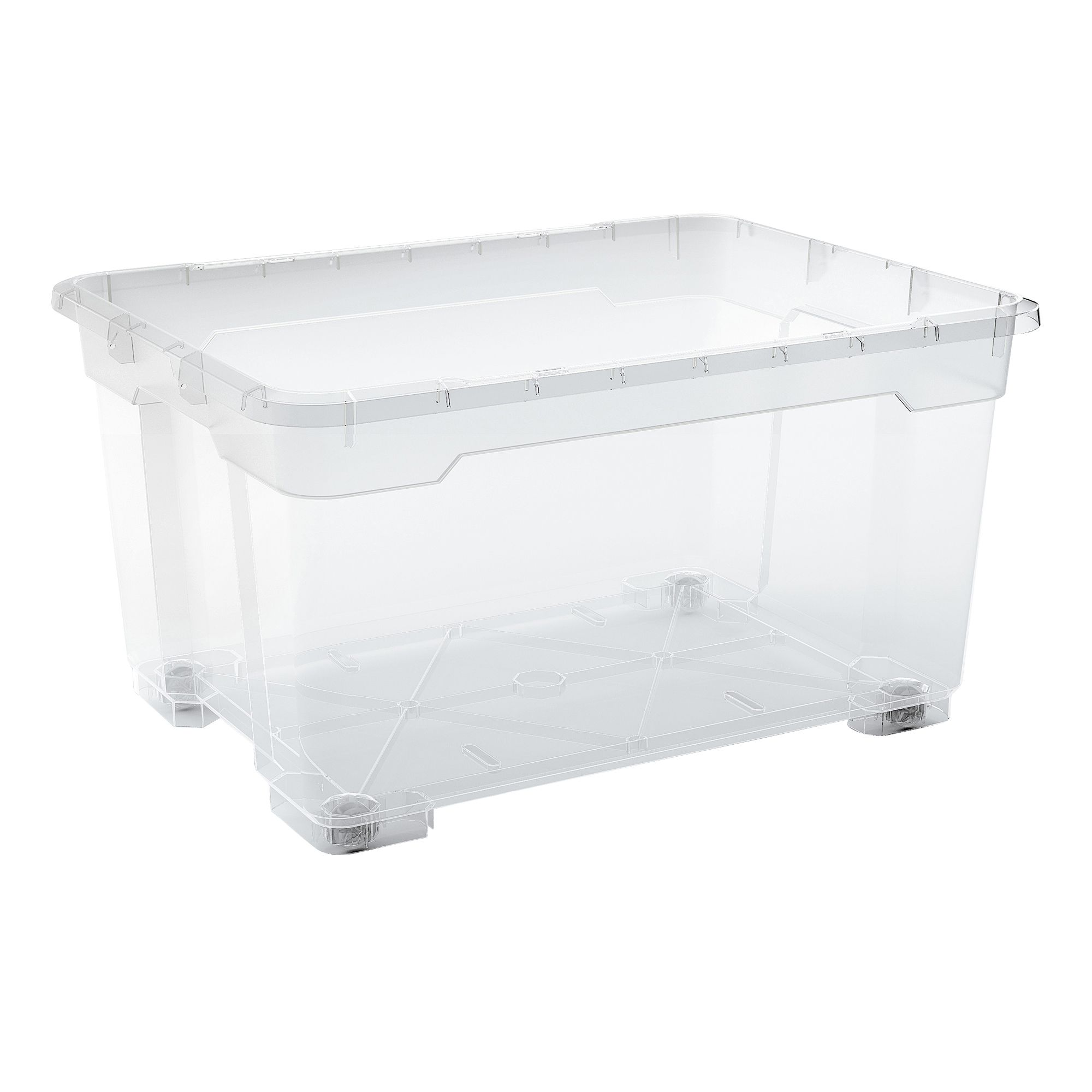 Form Flexi Store 140L Plastic Storage Box With Wheels | Departments | DIY  At Bu0026Q.