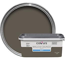 Colours Standard Chocolate Torte Matt Emulsion Paint 2.5L