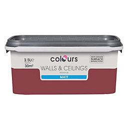 Colours Standard Merlot Matt Emulsion Paint 2.5L
