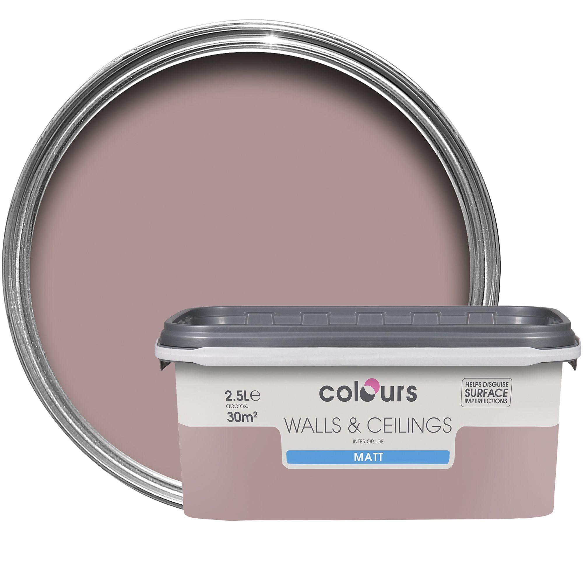 colours standard muted rose matt emulsion paint 2 5l. Black Bedroom Furniture Sets. Home Design Ideas
