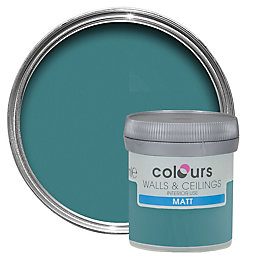 Colours Tester Barbados Blue Matt Emulsion Paint 0.05L