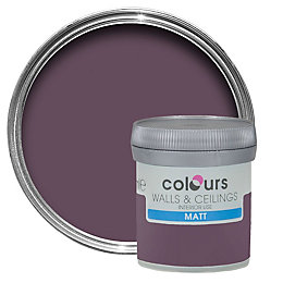 Colours Blackcurrant Matt Emulsion paint 0.05 L Tester