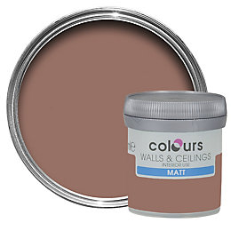 Colours Fired brick Matt Emulsion paint 0.05L Tester