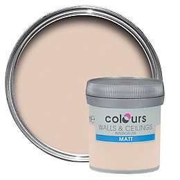 Colours Rose vanilla Matt Emulsion paint 0.05L Tester