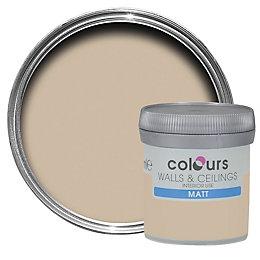 Colours Standard Taupe Matt Emulsion paint 0.05L Tester
