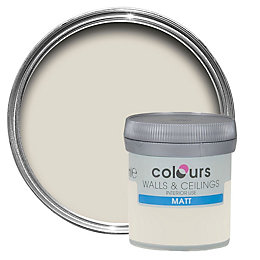 Colours Tester Victorian lace Matt Emulsion paint 0.05