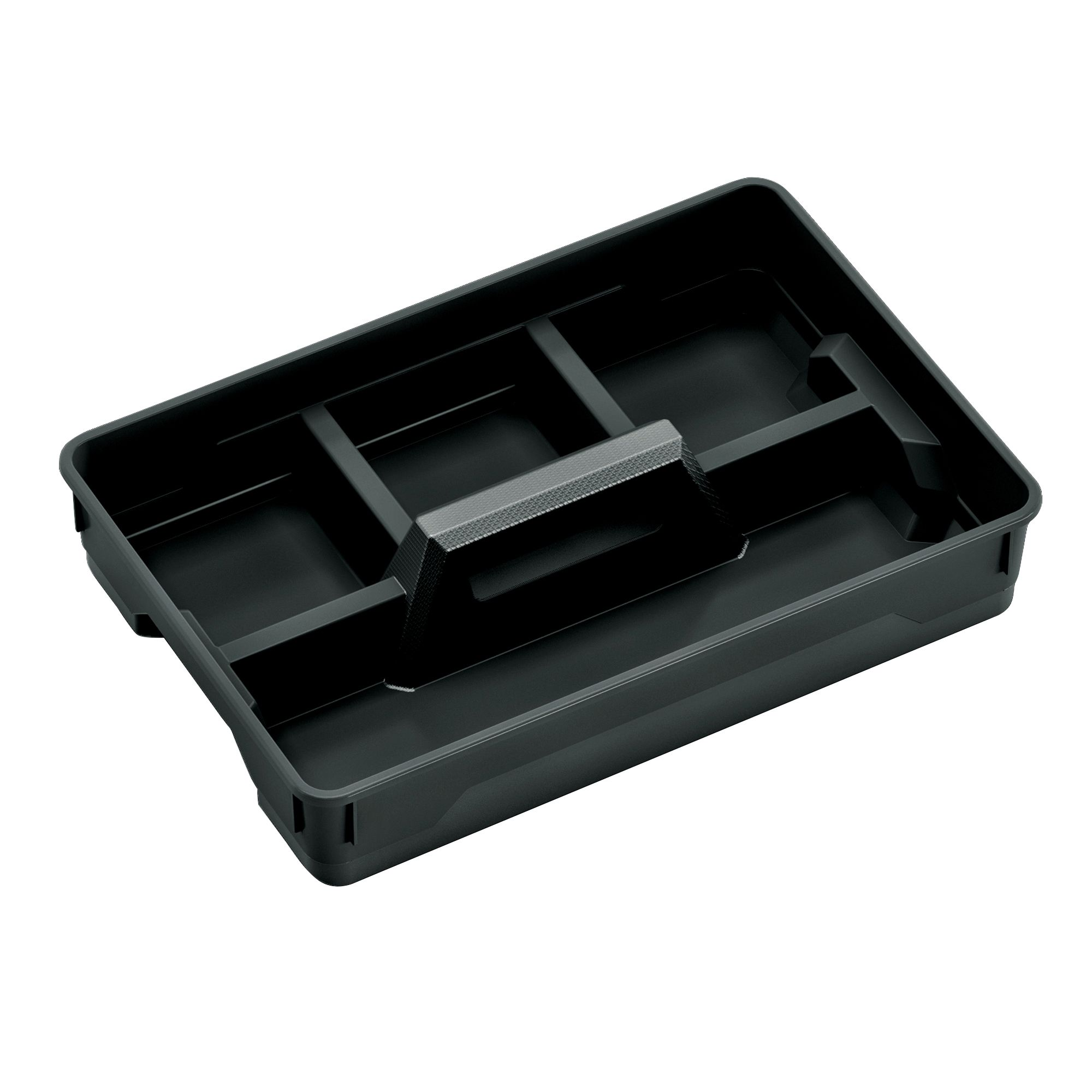 Form Flexi Store Black Small Plastic Organiser Tray