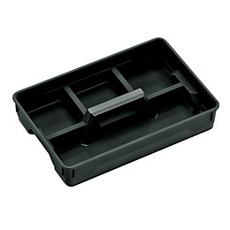 Flexi-store Black Plastic Small Organiser tray