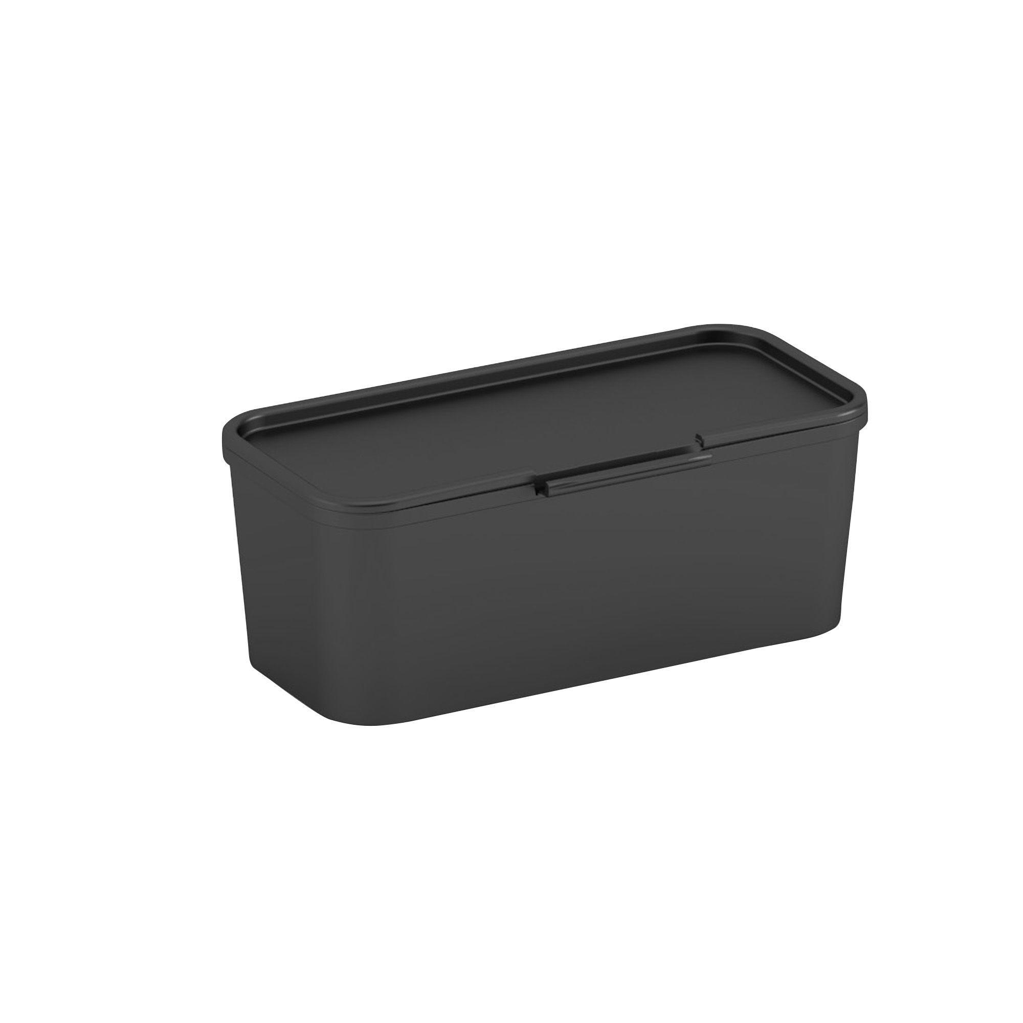 Form Flexi Store Black Plastic Storage Divider Pot