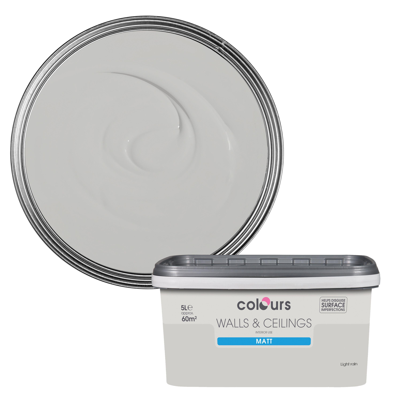 ... Colours Bathroom Light Rain Soft Sheen Emulsion Paint 5l Lighting And Q  Mirror Bq Shaver Socket ...