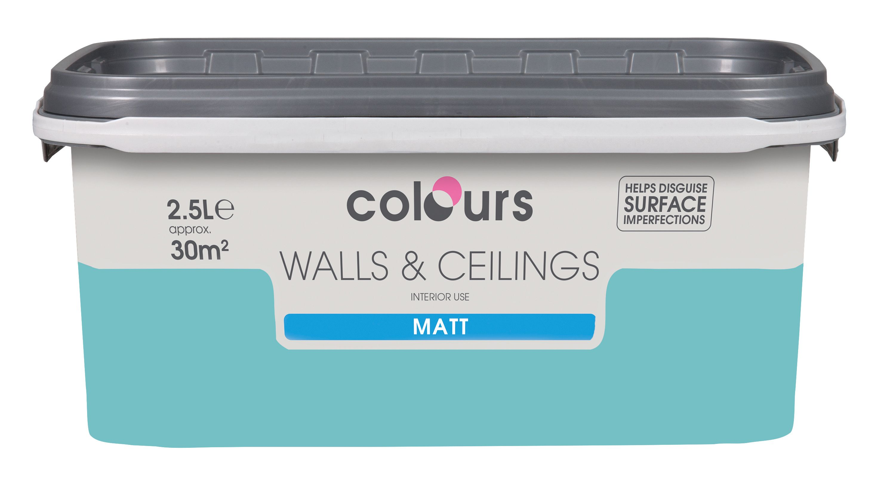 Colours Standard Chance Matt Emulsion Paint 2.5L | Departments | DIY ...