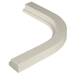 Cooke & Lewis Gloss Grey Curved external cornice/pelmet