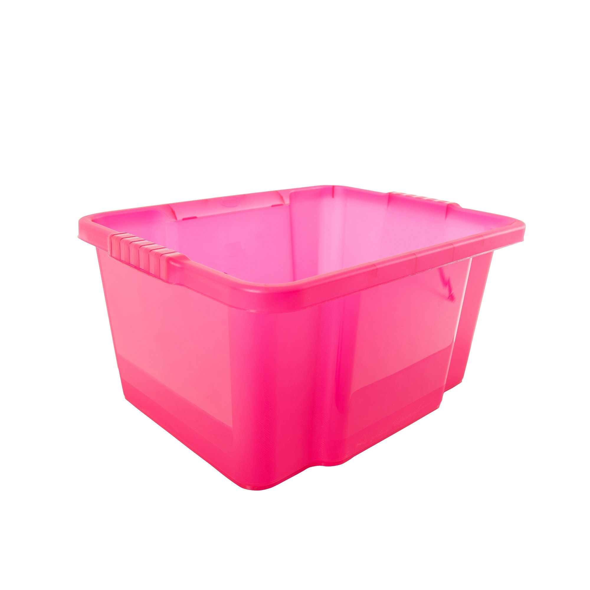 form storage boxes pink 30l plastic storage box departments diy at b q. Black Bedroom Furniture Sets. Home Design Ideas