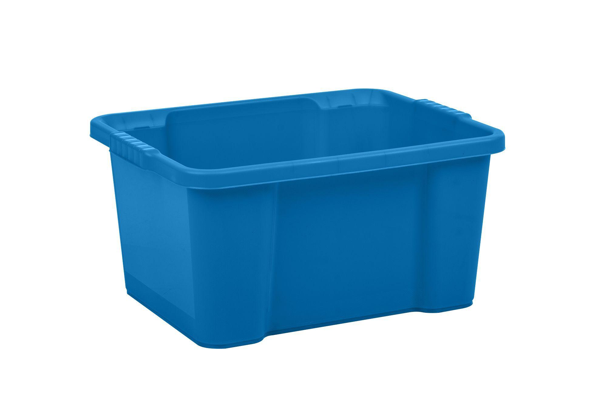 Form Storage boxes Blue 30L Plastic Storage box | Departments | DIY at Bu0026Q  sc 1 st  Bu0026Q & Form Storage boxes Blue 30L Plastic Storage box | Departments | DIY ...
