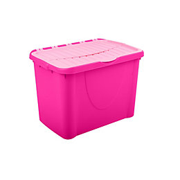 Form Storage Boxes Pink 60L Plastic Storage Box