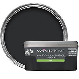 Colours Premium Black Silk Emulsion paint 2.5L