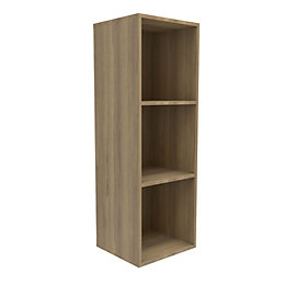 Form Konnect Natural Oak effect 3 Cube shelving