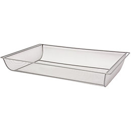 Form Twinslot Silver Effect Storage Basket (W)580mm