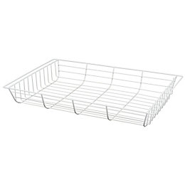 Form Twinslot White Steel Storage Basket