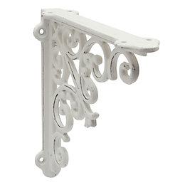 Classic Twist White Iron Effect Steel Shelf Bracket