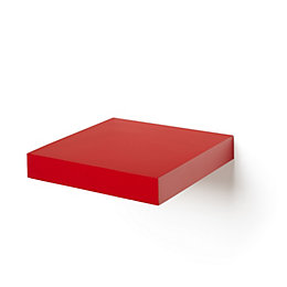 Red Matt Floating Shelf (L)237mm (D)237mm