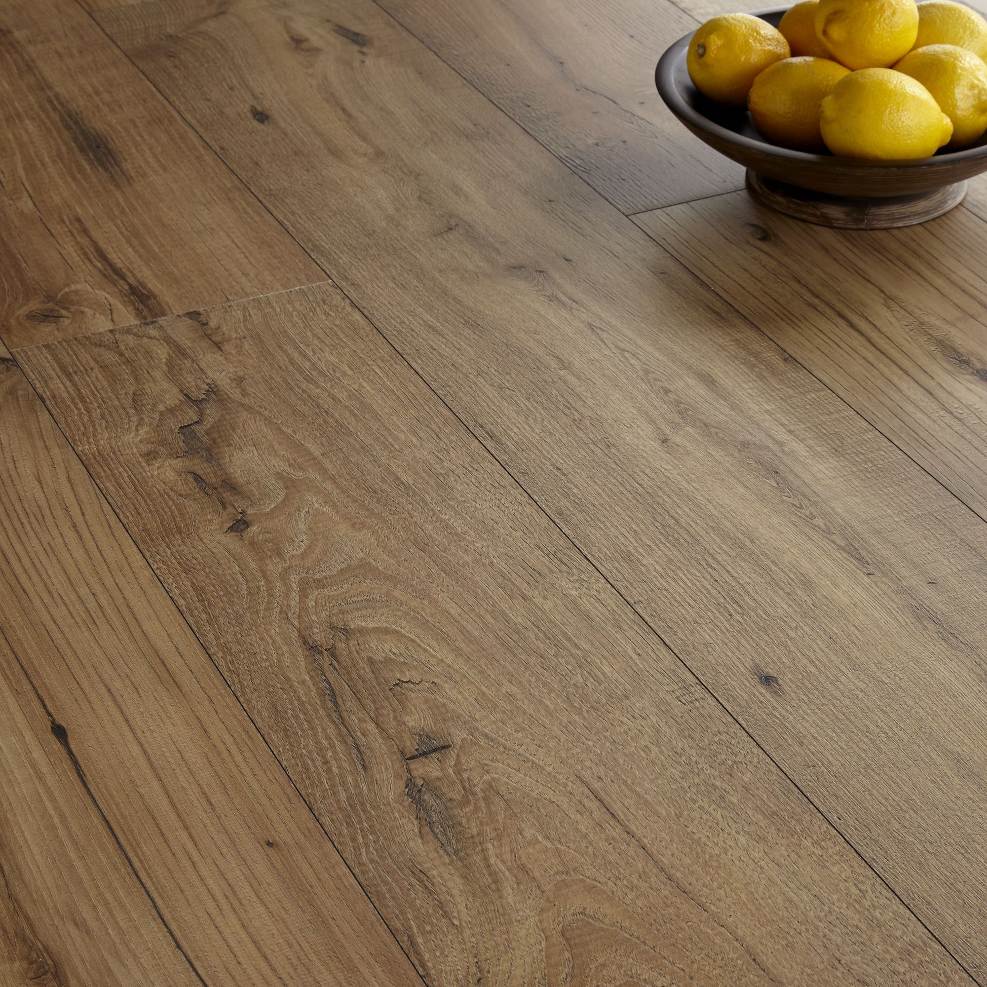Quickstep Espressivo Natural Chestnut Effect Laminate Flooring 1.83 m Pack  | Departments | DIY at B&Q